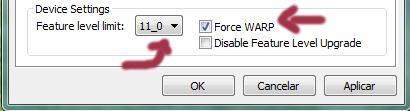 Edit list em dxcpl.exe