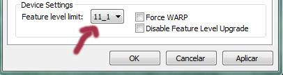 Feature level limit: 11_1 | dxcpl.exe