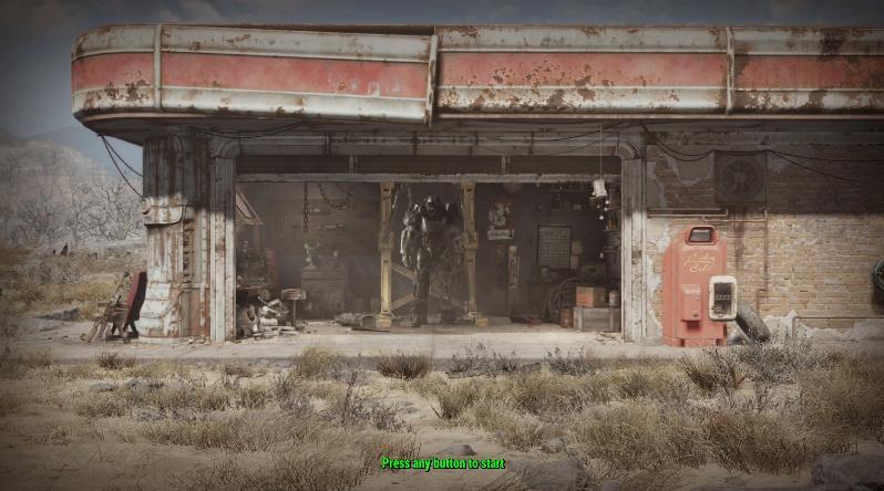 Fallout 4 início.
