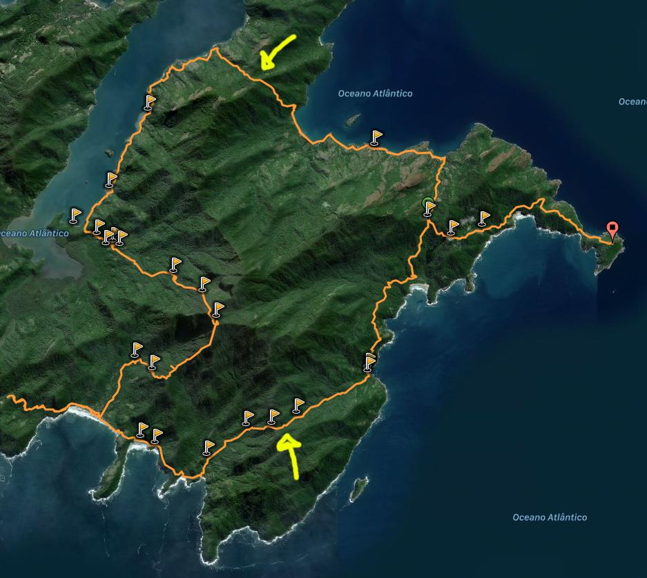 Mapa do circuito da Juatinga