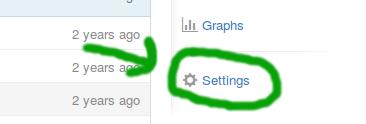 Onde mudar o nome do repositório no GitHub